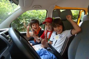 Sommerlager der Wölflinge 2018 <br/>VW-Bus fahren war natürlich auch immer ein Highlight