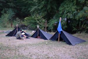 Sommerlager der Wölflinge 2018 <br/>Kröten (so heißen die Zelte)
