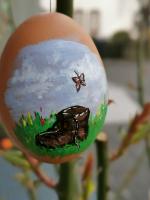 Osteraktion 2021<br/>Ein Wanderschuh auf Ei