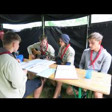 Sommerlager 2021 der Pfadis und Rover<br/>Singen und Schrammeln mit dem Mimimi