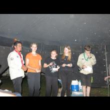 Sommerlager 2021 der Pfadis und Rover<br/>Pfadis am bunten Abend