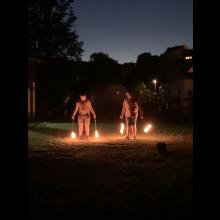 Sommerlager 2021 der Pfadis und Rover<br/>Feuer-Poi-Show