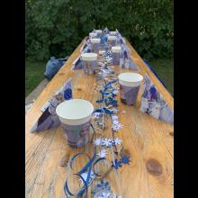 Sommerlager 2021 der Pfadis und Rover<br/>Disney Krimi-Dinner Tischdeko
